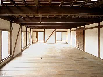 1階内観、3間×7間のワンルーム
