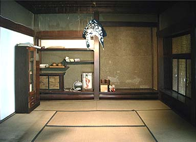 奥座敷の床、違い棚、付け書院