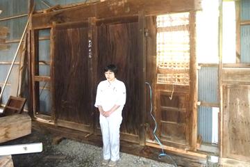 春日居の門 仮組み ケヤキ