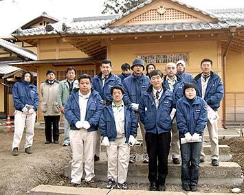 根津記念館で集合記念写真