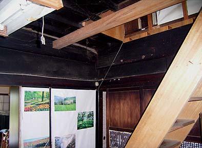 納戸天井修理着工前