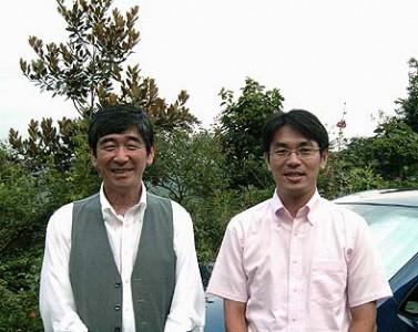 山下市長さん(右)