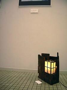 伝匠舎のもう一つの出品は「古材の照明」です