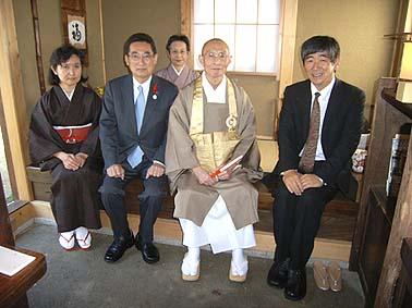 お客様に宮本鉄心官長様と田辺篤市長様にお越しいただきました。