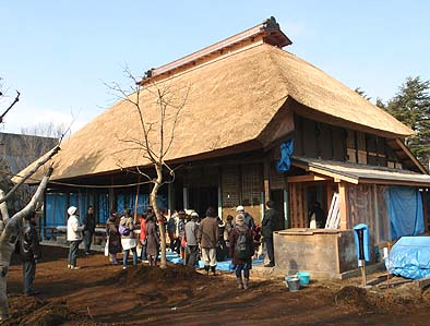 工事中の旧内田家住宅