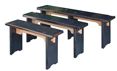階段材で作った長椅子、古代色仕上げ 大・長さ120センチ
