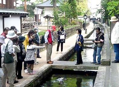 4班に分かれて古川町のまち並を散策しました