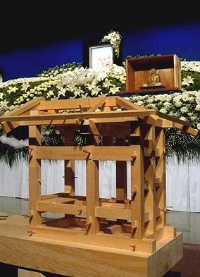 伝統工法を勉強する目的で作られた木組みの模型