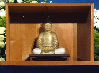 先生が大切にされていた聖徳太子座像