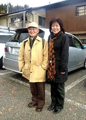 日伝建名誉会長の伊原惠司(さとし)先生と鳥羽瀬さん